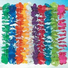 Amazon.com : Mega Plastic Lei assortment (100 plastic flower leis) : Childrens Party Favor Sets : Toys & Games