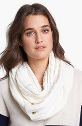 MICHAEL Michael Kors Buttoned Infinity Scarf