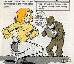 Meet Connie Rodd, Will Eisner's porny pin-up who taught preventative maintenance to the U.S. Army | Dangerous Minds