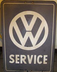 Vintage VW SERVICE sign