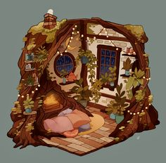3d Fantasy, Fantasy House, Fantasy Kunst, Art And Illustration, Pretty Art, Cute Art, Isometric Art, Fantasy Art Landscapes, Environment Concept Art