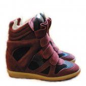 Cannot express how much I want these:  Isabel Marant Suede Red Wine Black High-top Sneakers
