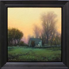 Winter Retreat by Kevin Courter Oil ~ 12 x 12