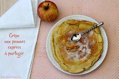 Aujourd'hui c'est la chandeleur, voici une recette de crêpes différentes que celle que l'on retrouve traditionnellement. Une crêpe épaisse et aérienne grâce à l'ajout de blanc d'oeuf, aux pommes (ou même aux poires), à préparer minute et à se partager....