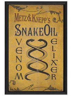 Snake Oil Venom Elixir by Artwork Enclosed on Gilt Home