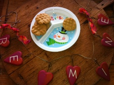 PEANUT BUTTER VALENTINE COOKIES ... made by Iszabel (3 years old) and sister Alessandra (2 years old)
