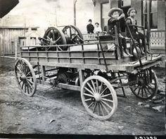 Children on Wagon | Photograph | Wisconsin Historical Society