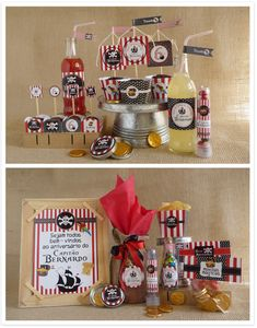 kit festa pirata -  enfeites personalizados para imprimir