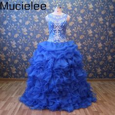 Vestidos De 15 Anos Sweet 16 Dresses Debutante Gown Cinderella Princess Blue Quinceanera Gowns Puffy Dresses for 15 Years #Affiliate