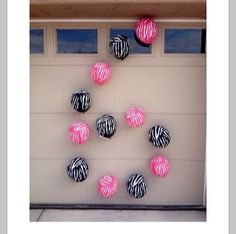Great Simple Idea For A Birthday   Hang   balloons on a garage door to represent the birthday girl/ boy's   age!!