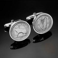 Rare gift for Men1928 Ireland threepence by worldcoincufflinks, $149.00