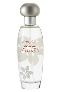 """Pleasures Exotic Eau de Parfum for Women by Estée Lauder: Introduced in """"Pleasures Exotic"""" has a tropical floral scent yet, it tempts you with its sparkling blend of exotic fruits and flowers shimmering in the air around you. Estee Lauder Fragrances, Best Fragrances, Estee Lauder Pleasures, Long Lasting Perfume, Gift Sets For Women, Exotic Fruit, Parfum Spray, Smell Good, Cologne"""