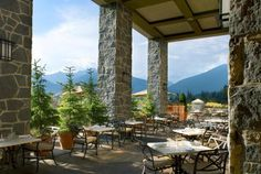 The Westin Resort & Spa, Whistler - Mountain View Outdoor Seating Area