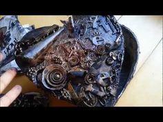 My Grungy Valentine (Mixed Media)- The Burning Heart