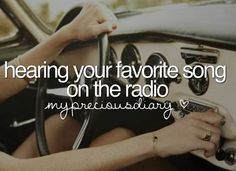 'Hearing your favorite song on the radio.' - especially a Song from your favorite band, feels great haha #30secondstomars #linkinpark
