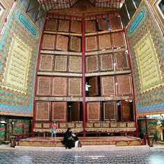 #exploresumatra photo today by @poeticpicture - taken at palembang al akbar, gandus, palembang  Al quran raksasa terbesar di dunia, terbuat dari kayu tembesu ukiran khas #palembang.