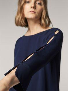 BLUSE MIT KNOPFLEISTE für DAMEN - Hemden und Blusen - Alles anzeigen auf Massimo Dutti für  Herbst Winter 2017 für 59.95. Natürliche Eleganz!