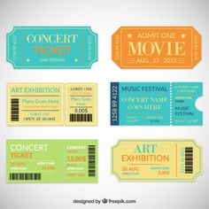 Concert Ticket Maker  Also Movie Marquees Gas Station Signs Etc