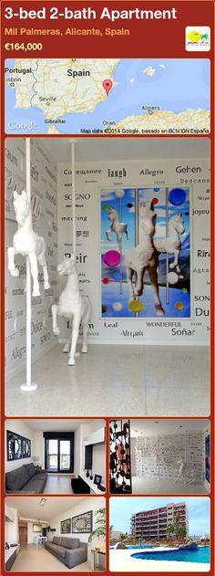 3-bed 2-bath Apartment for Sale in Mil Palmeras, Alicante, Spain ►€164,000