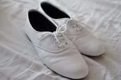 Pony oxford flats in Black or white leather by goldenponies, $39.00