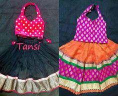 halter neck blouse for kids lehengas