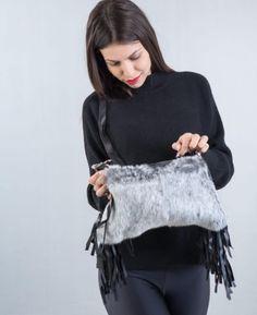 Kristin rabbit fringe bag by Gena