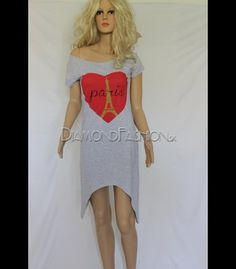 Asymetrické šaty PARIS