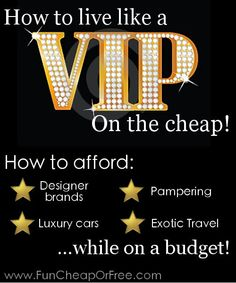 Frugality blogger teaches how to afford designer brands, luxury cars, exotic travel, pampering, and more! 20 Bucks says you've NEVER heard these tips before. frugality, frugal ideas #frugal frugal