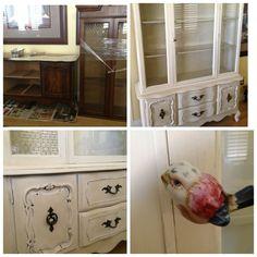 Annie Sloan Chalk Paint china cabinet redo