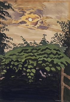 Moonlight Over the Arbor - Charles Burchfield (1893-1967), 1916