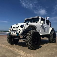 Save by Hermie Lifted Ford Trucks, Jeep Truck, Jeep Jeep, Jeep Suvs, Lifted Jeeps, Jeep Wrangler Rubicon, Jeep Wrangler Unlimited, White Jeep, Custom Jeep
