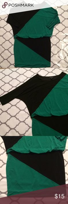 """$12 dolman too style dress like new color block Like new condition! This dress is made of a very stretchy fabric. The top is loose and flow it while the bottom is a tighter bandage style skirt bottom. ✔The price in the beginning of the title of my listings is the bundle price. These prices are valid through the """"make an offer"""" feature after you create a bundle. These bundle orders must be over $15. Ask me about more details if interested.  ❌No trades ❌No holds ❌No model photos ❌No additional…"""