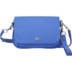 144a2ce556 Lacoste Daily Classic Small Crossover Bag (£99) ❤ liked on Polyvore  featuring bags, handbags, blue, cross over bags, lacoste bag, lacoste  handbags, ...