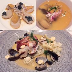 "Tataki of Hokkaido Scallops w Sea Urchin & Paddlefish Caviar  ""Chawan Mushi"" Japanese Savory Custard w Lobster & Sea Urchin #Ame #Uni #Lobster #ChawanMushi #Tataki #Hokkaido #Scallops #Sf #Sfeats #StRegisHotel #Japanese #BirthdayDinner #Yum #Foodie #Cakeday by mollypop_"