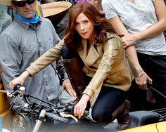 "#Natasha #BlackWidow #Avengers #AvengersAgeOfUltron #CaptainAmericaCivilWar #ScarlettJohansson on the set of ""Captain America: Civil War"" in Atlanta, May 15, 2015"