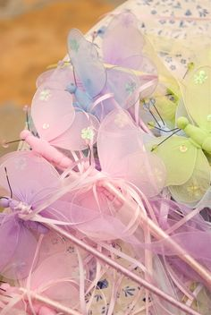 Fairies wands love these mjm, some cool ideas off to the dollar store, lol