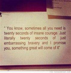 Just twenty seconds...