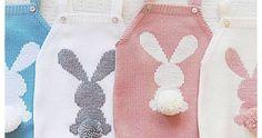 Enterizos y cubre pañal paso a paso en crochet o dos agujas