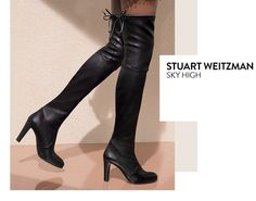 Sky high: contemporary boots from Stuart Weitzman and more.