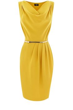 Cowl Drape Dress - love this style but not in yellow Draped Dress, Dress Up, Topshop, Mode Hijab, Work Attire, Yellow Dress, Work Fashion, Pretty Dresses, Dress To Impress