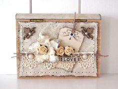 Little wooden gift box *Dusty Attic*...By:IngridG