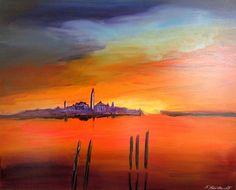 "Silvia Sailer, ""Venedig am Abend"""