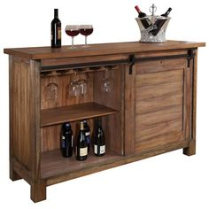 - Features - Specifications - Shipping & Returns - Warranty - About Manufacturer - Relaxed Classic finish on select hardwoods and veneers is lightly distressed for an aged appearance. - This wine cons