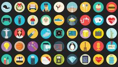 images of icon sets | 8500 Pixel Perfect Flat Icons Set Bundle