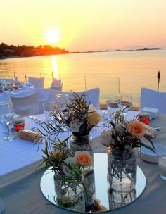 www.rosetta.gr - BALUX ΓΛΥΦΑΔΑ Greece Wedding, Wedding Flowers, Greek, Dreams, Table Decorations, Weddings, Furniture, Home Decor, Wedding In Greece
