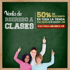 Venta Exclusiva para Miembros VIP: ¡Compra y Ahorra un 50% de Descuento el 12 de Agosto en Nuestra Venta de Regreso a Clases!