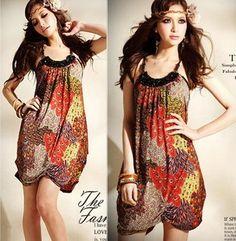boho blouses | ... -Women-Sexy-Boho-Beach-Mini-Dress-Sun-Dress-Casual-Tops-Summer-Q558