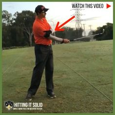 How to pitch like a pro with 1 simple drill that connects your arms better. Golf Wedges, Golf Books, Golf Chipping Tips, Golf Score, Best Golf Courses, Golf Instruction, Golf Putting, Golf Exercises, Golf Training