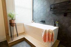 hexagon tiles Jamie and Hayden Bathroom