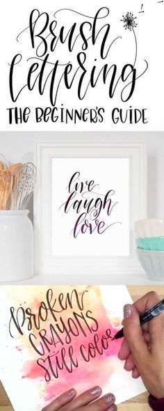 Best free or low-cost online hand lettering & art classes: learn how to create beautiful brush lettering, quote art, watercolor paintings, chalk lettering, and lots more! A Piece of Rainbow